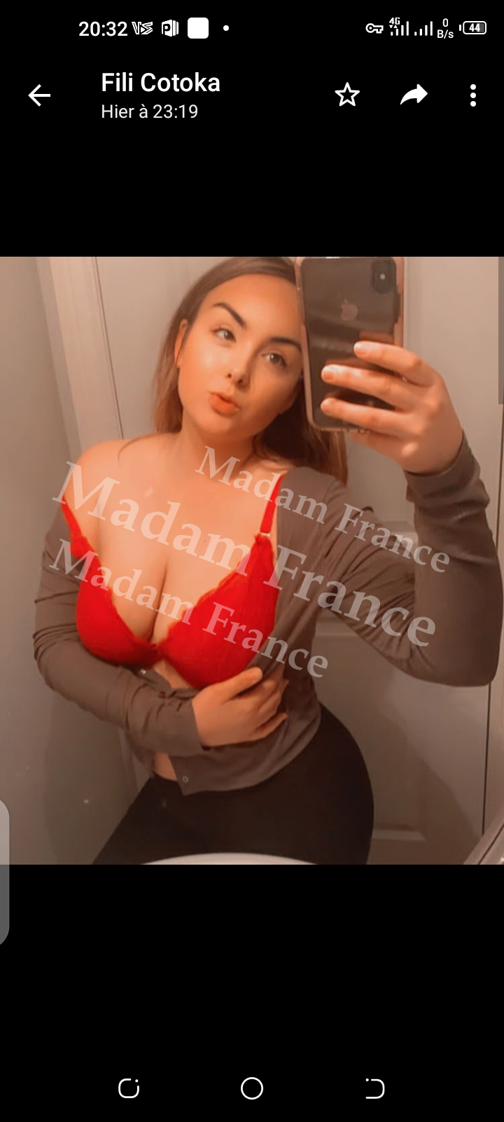 Maria model on Madam France escort service
